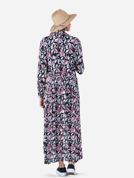 Blusa NIGHT FLOWER LONG BLOUSE