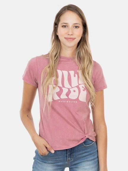 Polera M/C WILD RIDE Rosad