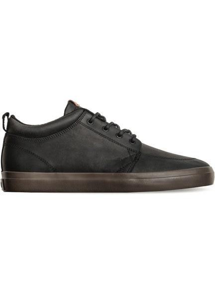 Zapatilla GS Chukka Black Leather/Choc